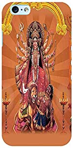 PrintVisa 3D-IPHONE6S-D8085 Religious Durga Case Cover for Apple iPhone 6S