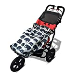 Wheelchair RAIN Cover | Universal, Lightweight, Compact and 100% Waterproof | fits All Kids Manual and Powered wheelchairs and Special Needs Buggies. Easy to fit - Stunning Designs (Grey Elephant)