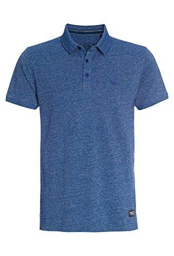 TANTUM O.N. Meliertes Herren Poloshirt T-Shirt,Polo,kurzarm,einfarbig,Freizeit,Männer,uni Blau-Meliert