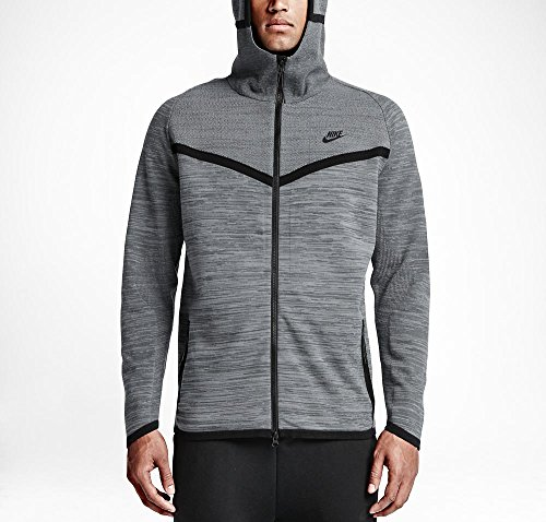 Knit Windrunner Tech Nike-Giacca da donna Gris / Negro (COOL GREY/DARK GREY/BLACK)