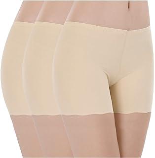 Imixcity Lot de 2 3 Femme Shorts de sécurité en Modal Soie Glacée Invisible  Slip bc9b0f293de