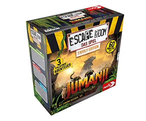 Noris 606101837 Escape Room Jumanji (Family Edition), ab 10 Jahren inkl. 3 Fällen und Chrono Decoder