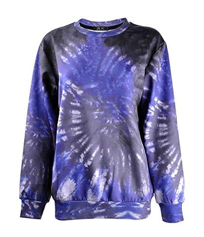ZLYC Women Fantasy Dip Dye Print Novelty Sweater Sweatshirt Pullover