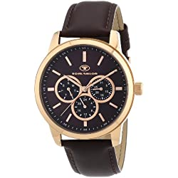 TOM TAILOR Herren-Armbanduhr XL Analog Quarz Leder 5410403