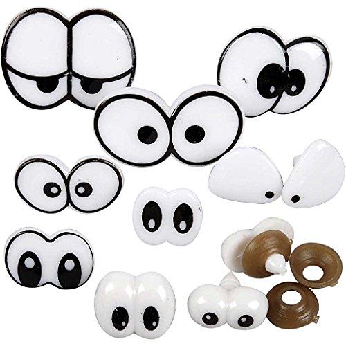 Lustige Augen, Sortiment, Größe 2-3 cm, 9 sort.