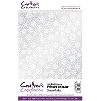 Crafter' s Companion Scrapbooking stampato ACETATO–Fiocco di neve (220Micron)