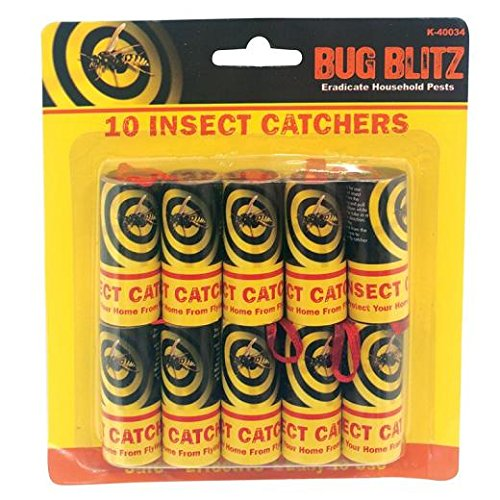 10-x-sticky-fly-bug-wasp-insect-poison-free-paper-trap-catchers-traps