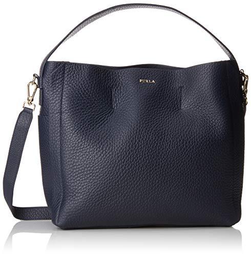 furla capriccio Furla Damen Capriccio Business Tasche, Blau (Blu D), 13x30x30 cm