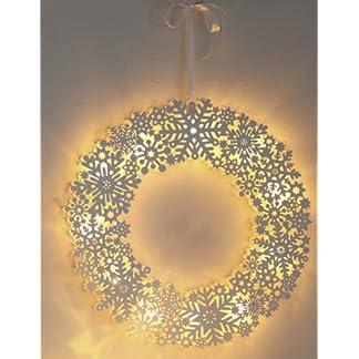 LED-ventana ofrenda floral Snowflake corona