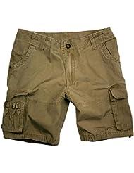 Kakadu Traders Mujer Cargo Pantalones Cortos, mujer, color gris, tamaño XXXXL