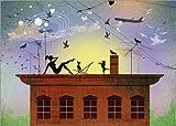 Posterlounge Alu Dibond 70 x 50 cm: on My Rooftop von Elisandra Sevenstar