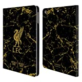 Head Case Designs Personalisierte Individuelle Liverpool Football Club Marmor Schwarz 2018/19 Brieftasche Handyhülle aus PU Leder für iPad Air (2013)