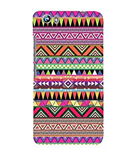Abstract Color Pattern 3D Hard Polycarbonate Designer Back Case Cover for Micromax Canvas Fire 4 A107