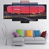 5-teiliges Leinwandbild Bayern München Allianz Arena Group
