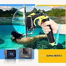 TELESIN Gopro Dome Port, Custodia impermeabile 6 pollici con galleggiante Impugnatura compatibile con GoPro Hero 5 TM051