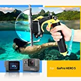 TELESIN Gopro Dome Port, Custodia impermeabile 6 pollici con galleggiante Impugnatura compatibile con GoPro Hero 5 TM051 immagine