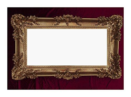 Rahmen Gold 96x57 cm Hochzeitsrahmen Bilderrahmen Fotorahmen Antik Barock Rokoko Repro Shabby Chic...