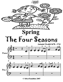 Spring Four Seasons Beginner Piano Sheet Music Tadpole
