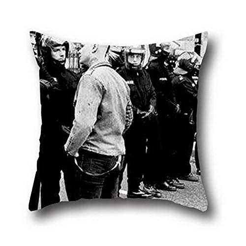Goling Bbay Anarchy Graffiti cuadrado Home Sweet funda de almohada de pintura al óleo de algodón