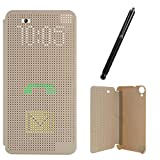 #10: DMG Dot View Interactive Flip Cover Case for HTC Desire 820 (Gold) + Touch Screen Stylus