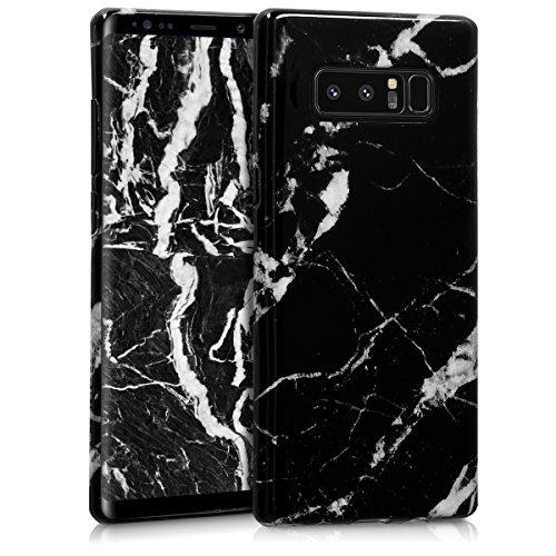 kwmobile Samsung Galaxy Note 8 DUOS Hülle - Handyhülle für Samsung Galaxy Note 8 DUOS - Handy Case in Schwarz Weiß