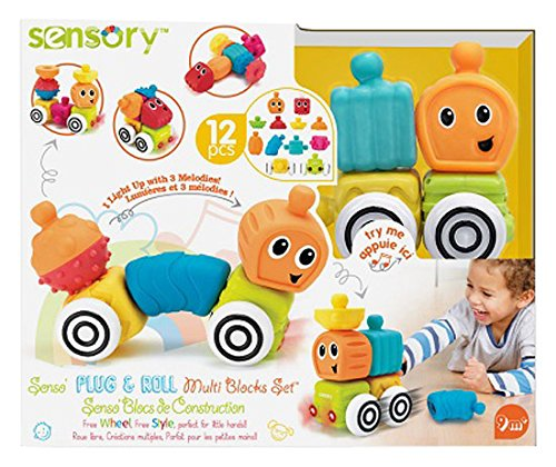 Infantino Sensory Plug und Roll Multiblöcke, Bausteine,