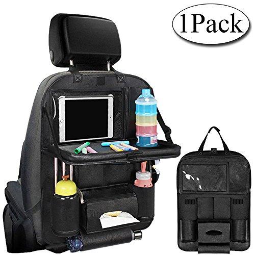 Preisvergleich Produktbild Auto Organizer, AresKo Auto Esstisch Rückenlehnenschutz mit Bildschirm Berührbar Tablet Halter Multi-Tasche für Auto ordentlich, 1 Stück