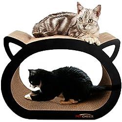 Cama rascadora para gatos con diseño de gato Petcheer