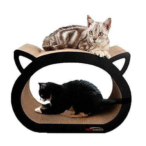 Petcheer Cama rascadora para gatos con diseño de gato
