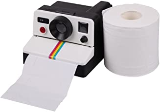 Bath Cube Camera Shape Toilet Paper Holder Box Tissue Roll Container Stand - 1 Pc.