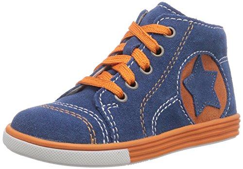 Richter Kinderschuhe  Sing  0121-521, {Chaussures premiers pas pour bébé (garçon) Bleu - Blau (ink/apricot  6811)