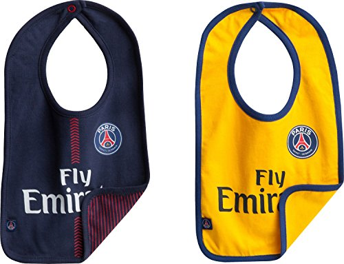 d04c4f89333f07 PSG Bavoir bébé x 2 - Maillot Fly Emirates Domicile extérieur - Collection  Officielle Paris Saint