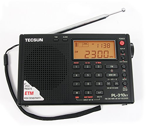 AGPTek® Tecsun PL-310ET FM-Stereo / SW / MW / LW DSP ETM-Radio Weltempfänger