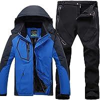 Hombre de Trekking Impermeable Deportivos Transpirable Pantalones Chaqueta de Esquí Impermeable Chaqueta de Nieve Excursionismo Conjunto