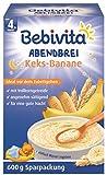 Bebivita Milchbrei Abendbrei Keks-Banane, 4er Pack (4 x 600 g)