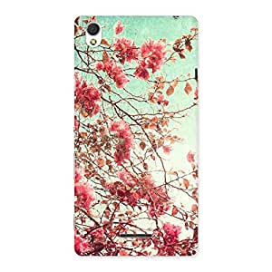 Neo World Floral Red Back Case Cover for Sony Xperia T3