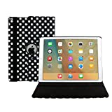 Avril Tian New iPad 2017 Case Cover, 360 Degrees Rotating Multi Angles Magnetic Screen Protective Flip Folio Stand Smart Case Cover for Apple 2017 New iPad 9.7 inch Tablet