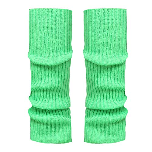 Stulpen Damen,1 Paar Mode Beinlinge Twist gestrickte Beinlinge Socken Boot Cover warme Leg Socken Teens Grobstrick Legwarmers(Grün)