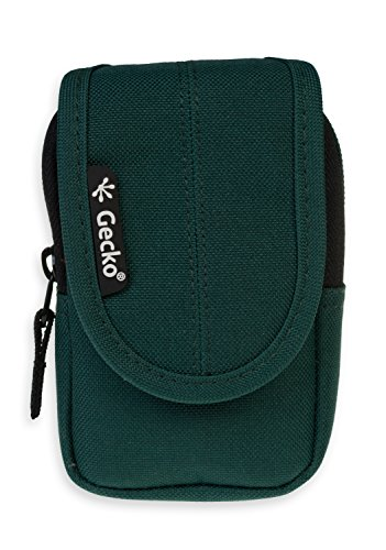 GeckoCovers universal Kameratasche in der Größe small und in der Farbe grün/green - passend für Digitalkameras und Kompaktkameras wie z.B. Panasonic DMC-SZ3EG-K