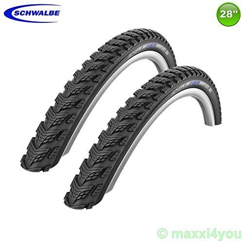 01022834S 2 x Schwalbe Marathon GT-365 Fahrradreifen Decke Mantel + Reflex 40-622
