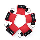 CPR Maschera Portachiavi anello Kit d'emergenza Salvare Scudi viso Schermi di faccia con barriera di respirazione a valvola a senso unico per il primo soccorso o la formazione AED (5)