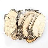 N/A Netz Holzscheiben oval 10-13cm Holz Untersetzer Tischkarten ca 15 Stück, AUSF:Hainbuche