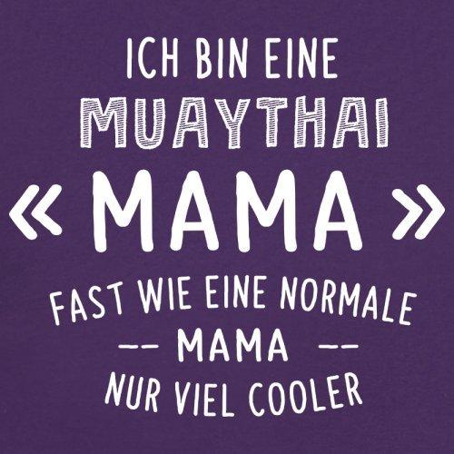 Ich bin eine Muathai Mama - Damen T-Shirt - 14 Farben Lila