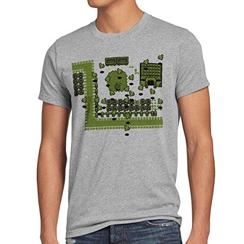 style3 Link Retro Gamer T-Shirt Herren, Größe:XL;Farbe:Grau meliert