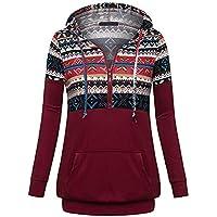 Moginp Frauen Hoodies Damen Weihnachten Druck Hooded Pullover Sweatershirt Tops