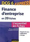 Finance d'entreprise en 20 fiches DCG 6