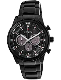 Citizen  CA4035-57E - Reloj de cuarzo para hombre, con correa de acero inoxidable, color negro