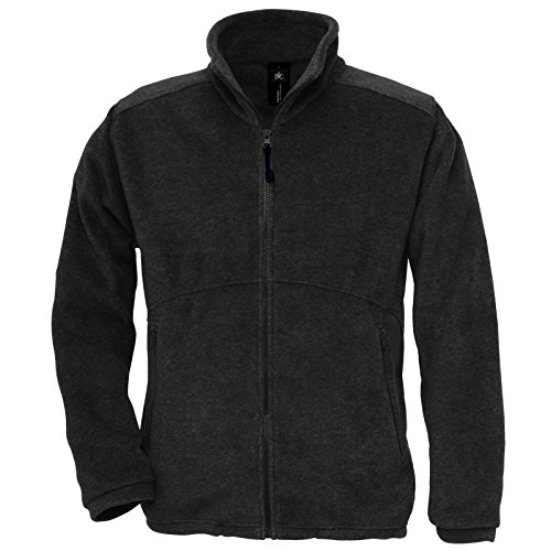 B&C Collection Herren Modern Jacke Gr. XS, schwarz (Hooded Jacket Mens Flannel)
