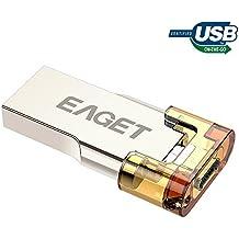 EAGET PenDrive Micro USB 3.0 OTG Chiavette USB 32GB Metallo con Portachiavi per Smartphone Android Tablet PC V80