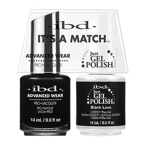IBD C'est un match à ongles gel, Noir Lava